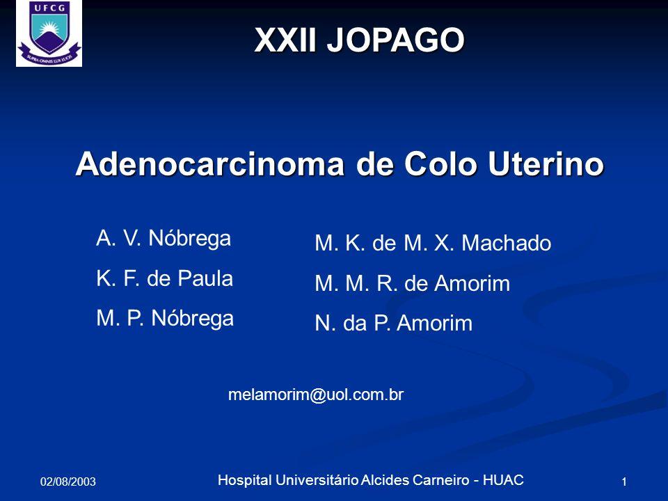 Adenocarcinoma de Colo Uterino