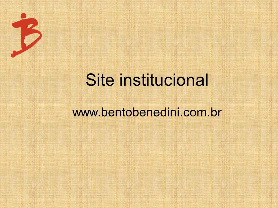 Site institucional www.bentobenedini.com.br