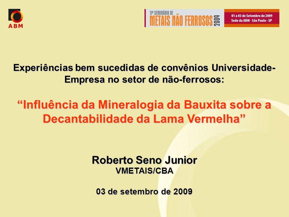 Experiências bem sucedidas de convênios Universidade-Empresa no setor de não-ferrosos: