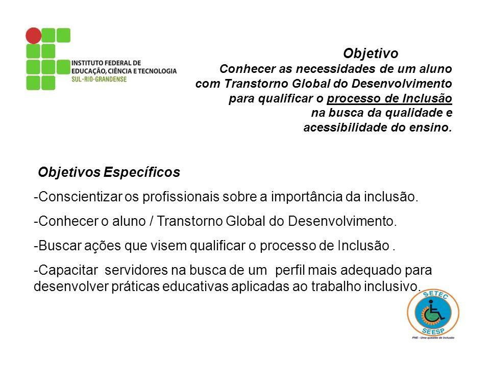 -Conscientizar os profissionais sobre a importância da inclusão.