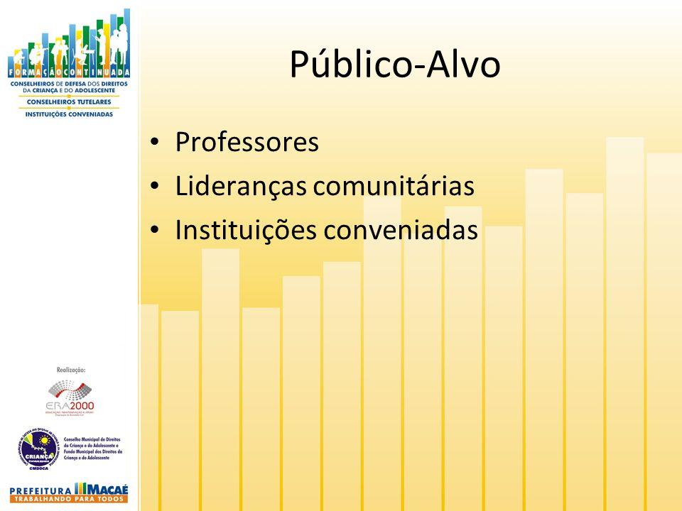 Público-Alvo Professores Lideranças comunitárias