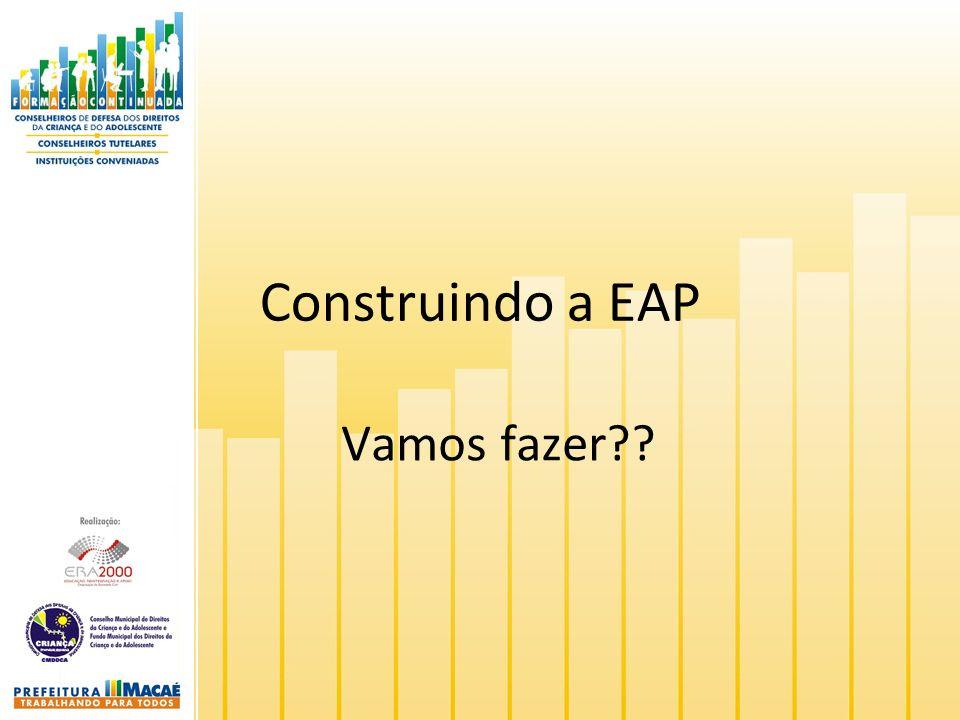 Construindo a EAP Vamos fazer