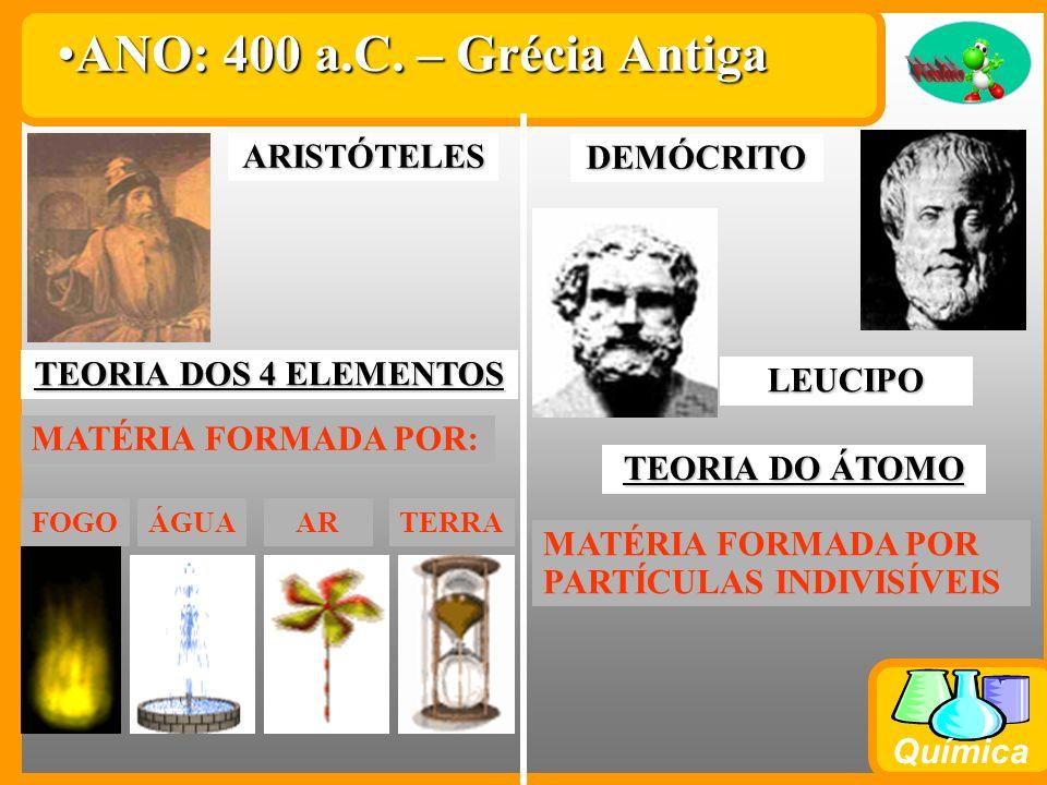 ANO: 400 a.C. – Grécia Antiga ARISTÓTELES DEMÓCRITO
