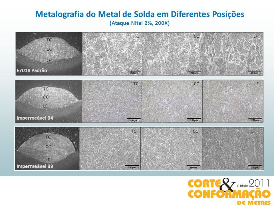 Metalografia do Metal de Solda em Diferentes Posições