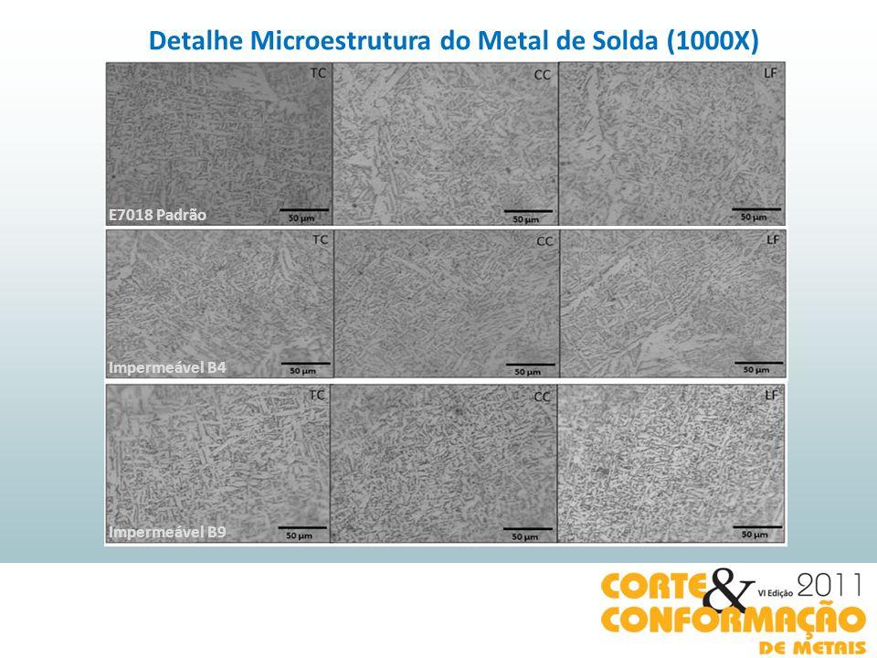 Detalhe Microestrutura do Metal de Solda (1000X)