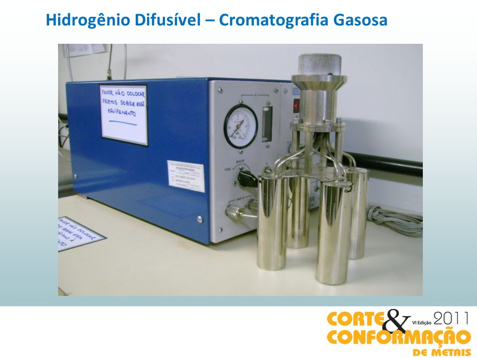 Hidrogênio Difusível – Cromatografia Gasosa