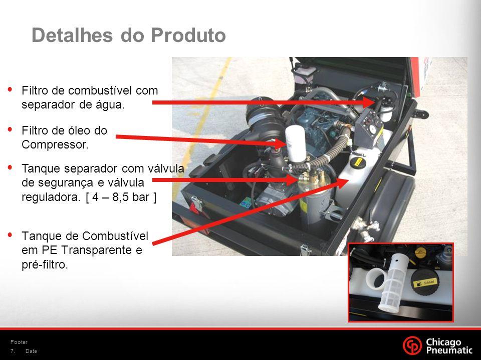 Detalhes do Produto Filtro de combustível com separador de água.