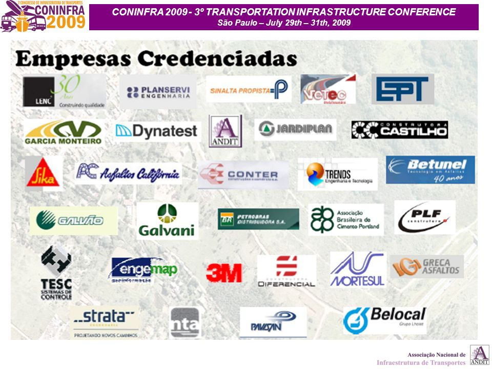CONINFRA 2009 - 3º TRANSPORTATION INFRASTRUCTURE CONFERENCE
