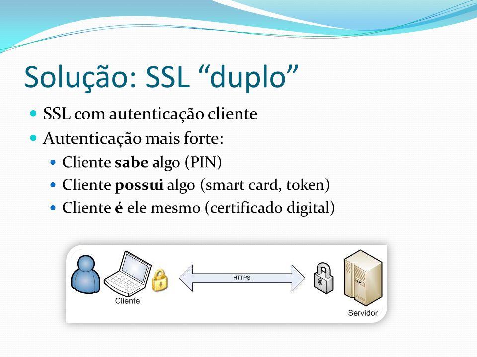 Solução: SSL duplo SSL com autenticação cliente