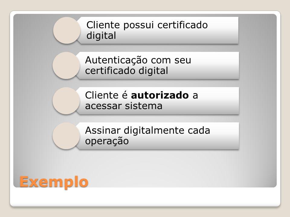 Exemplo Cliente possui certificado digital