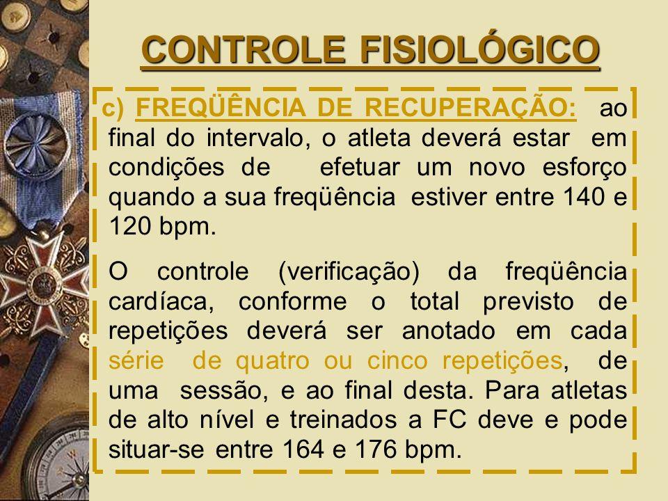 CONTROLE FISIOLÓGICO