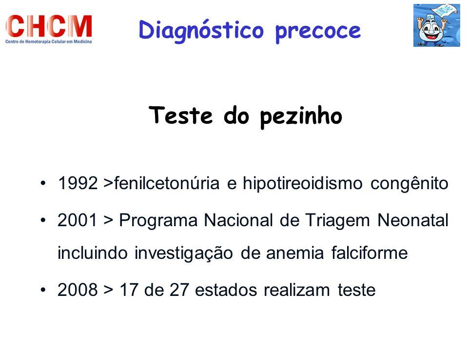 Diagnóstico precoce Teste do pezinho