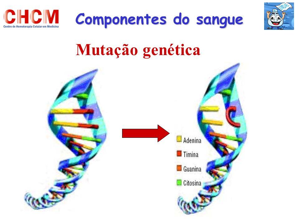 Componentes do sangue Mutação genética