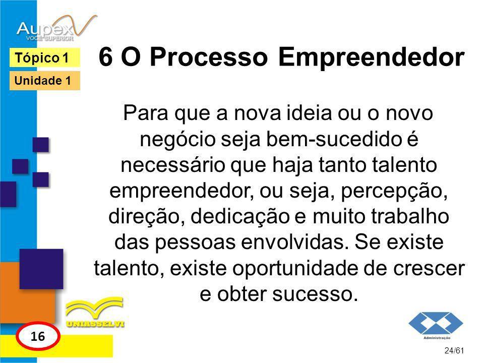 6 O Processo Empreendedor