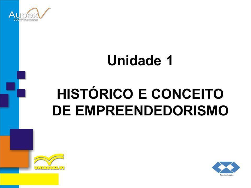 Unidade 1 HISTÓRICO E CONCEITO DE EMPREENDEDORISMO