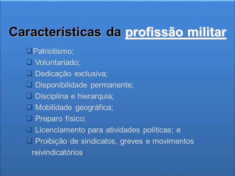 Características da profissão militar