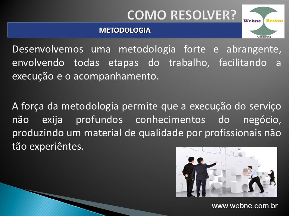 COMO RESOLVER METODOLOGIA.