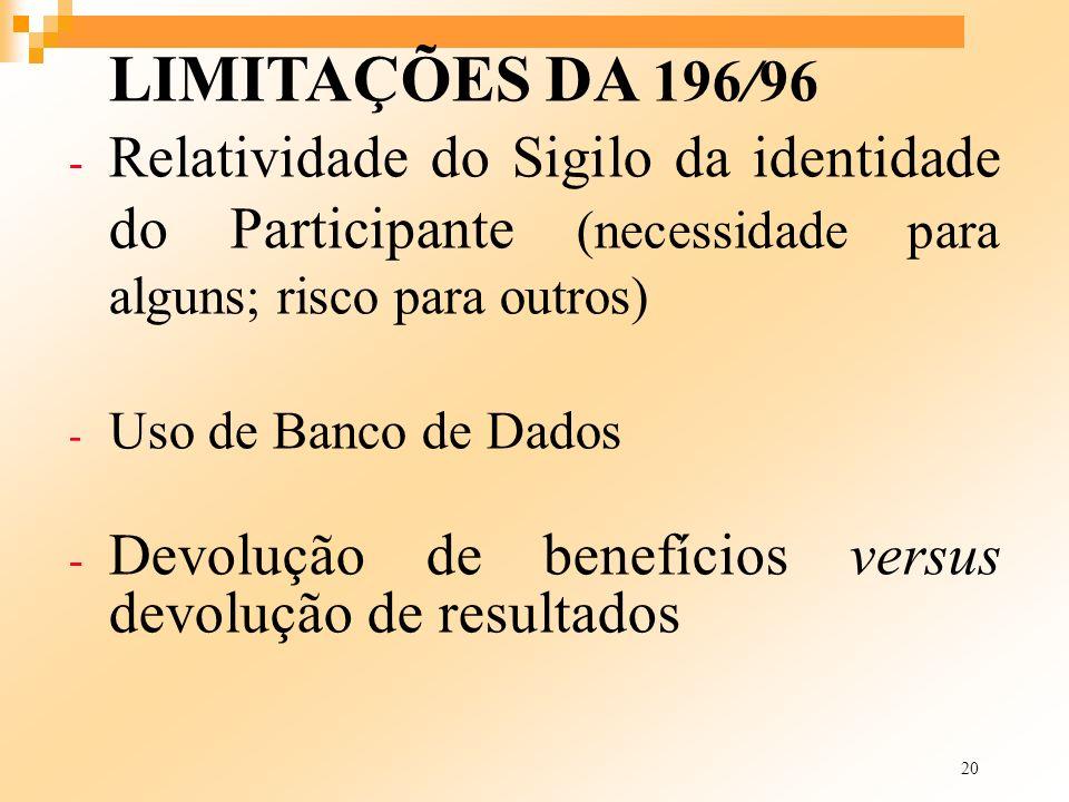 Devolução de benefícios versus devolução de resultados