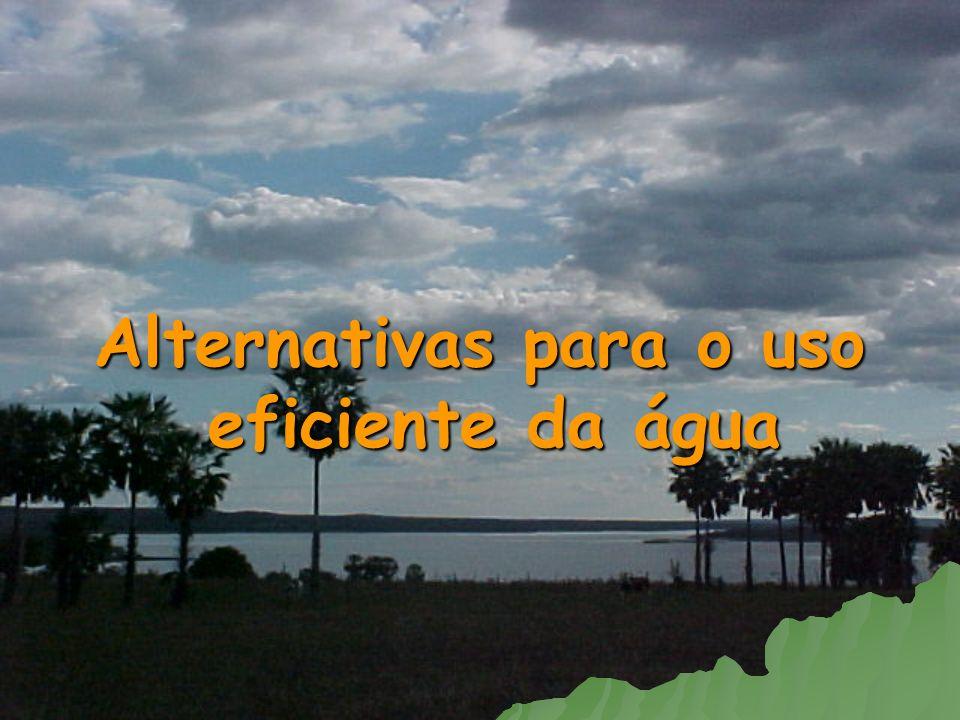 Alternativas para o uso eficiente da água