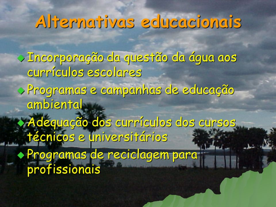 Alternativas educacionais