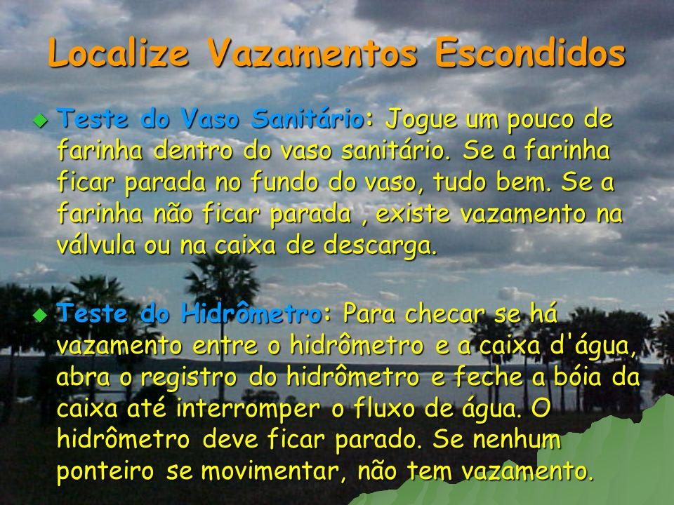 Localize Vazamentos Escondidos
