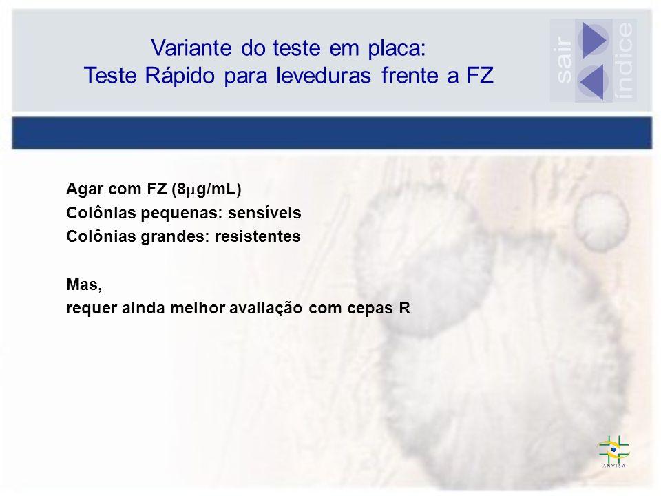 Variante do teste em placa: Teste Rápido para leveduras frente a FZ