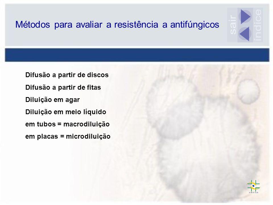 Métodos para avaliar a resistência a antifúngicos