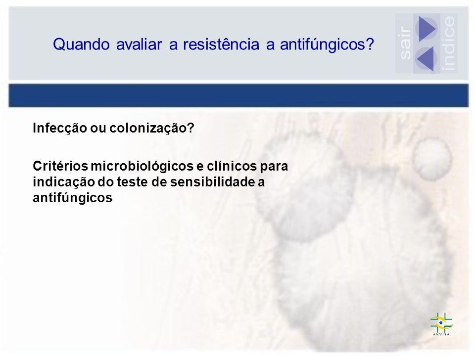 Quando avaliar a resistência a antifúngicos