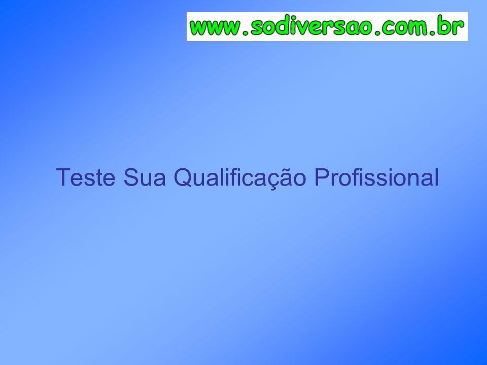 Teste Sua Qualificação Profissional