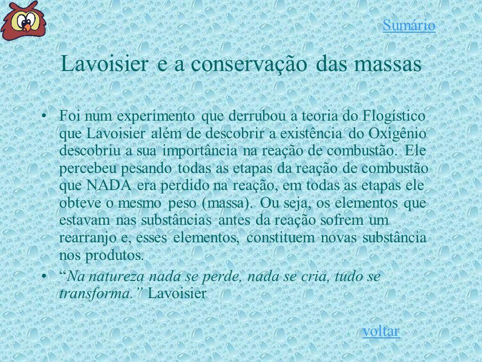 Lavoisier e a conservação das massas