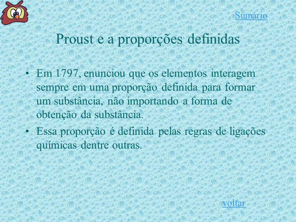 Proust e a proporções definidas