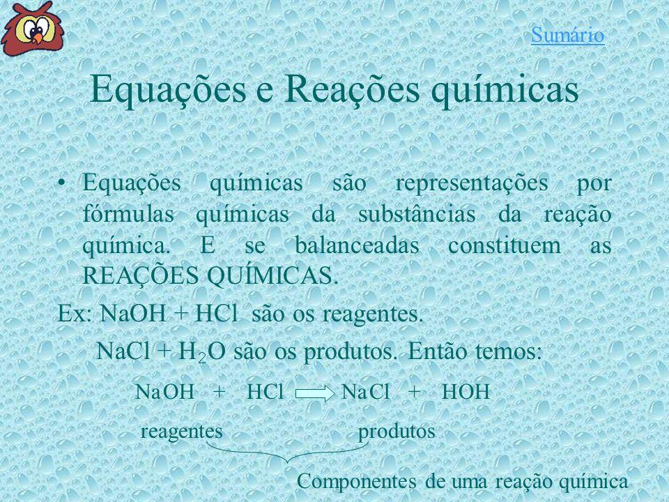 Equações e Reações químicas
