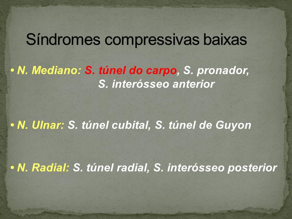 Síndromes compressivas baixas