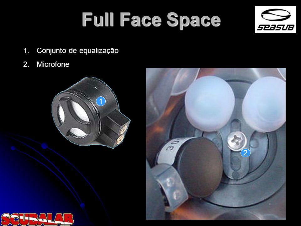 Full Face Space Conjunto de equalização Microfone 1 2