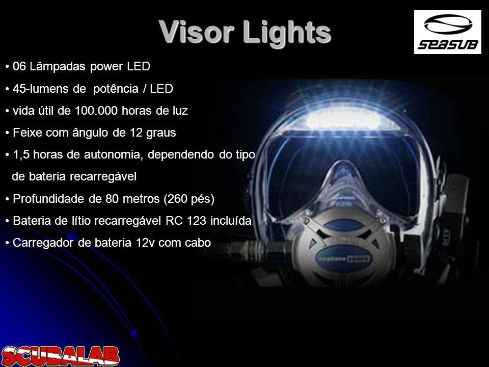 Visor Lights 06 Lâmpadas power LED 45-lumens de potência / LED