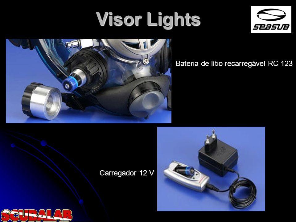 Visor Lights Bateria de lítio recarregável RC 123 Carregador 12 V