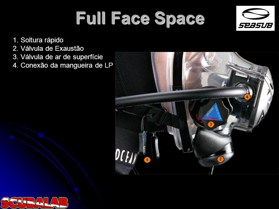 Full Face Space 1. Soltura rápido 2. Válvula de Exaustão 3.