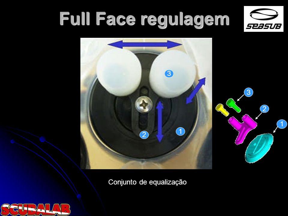 Full Face regulagem 3 3 2 1 1 2 Conjunto de equalização