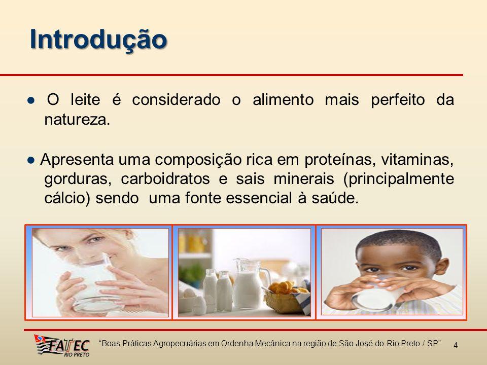 Introdução ● O leite é considerado o alimento mais perfeito da natureza.