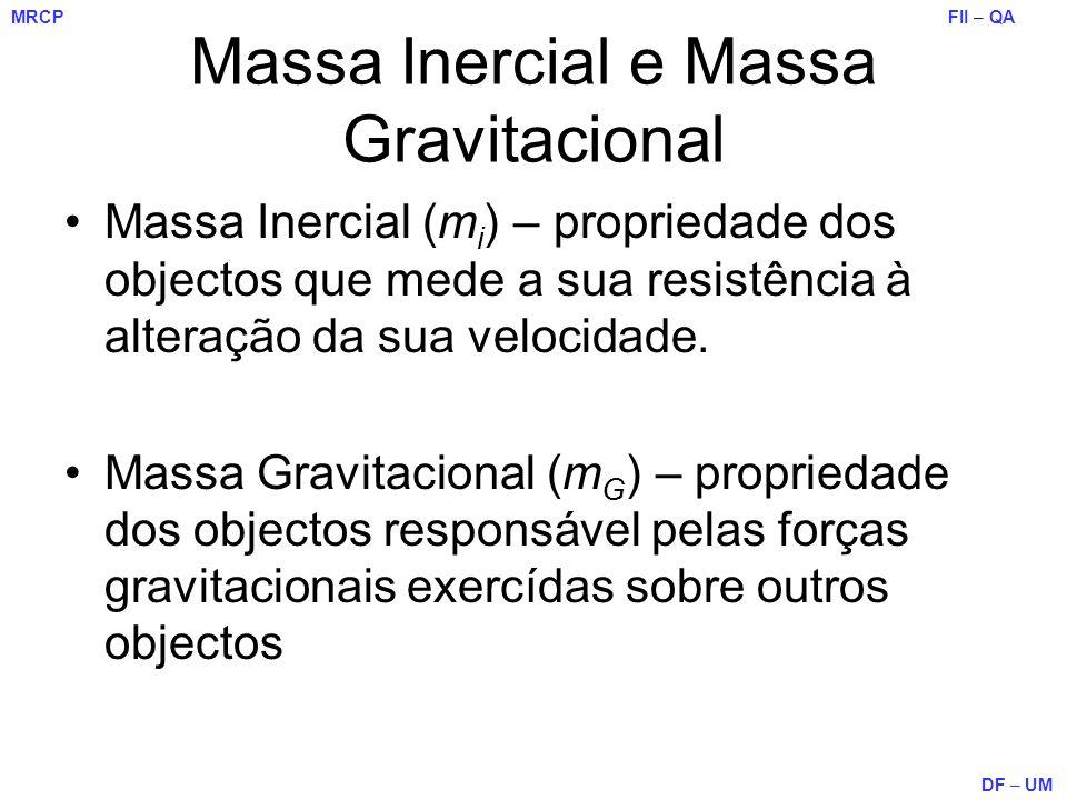 Massa Inercial e Massa Gravitacional