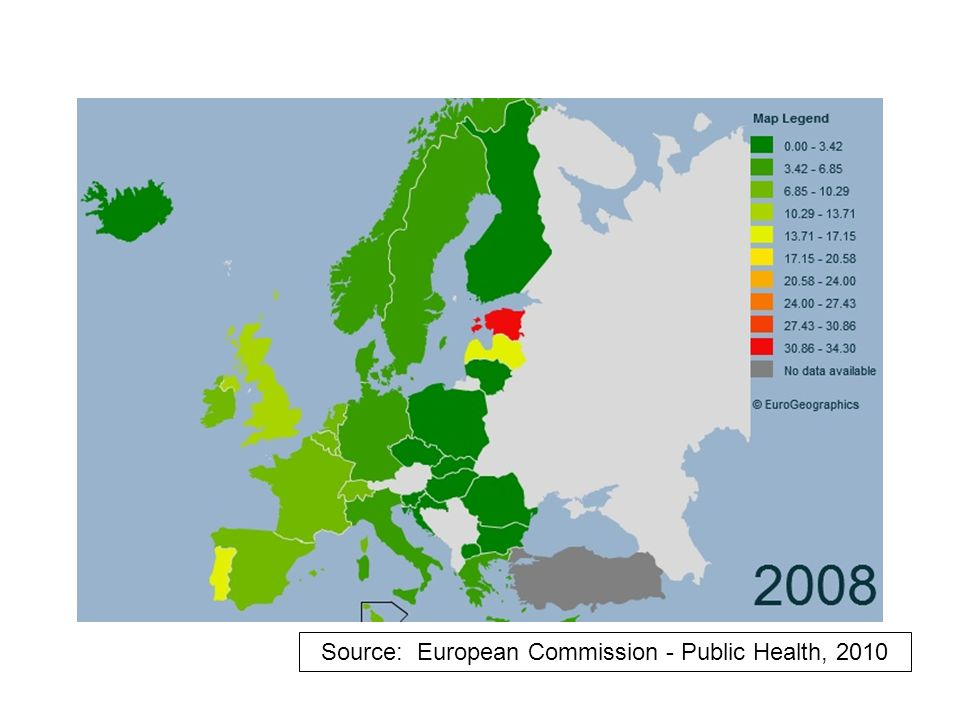 Source: European Commission - Public Health, 2010