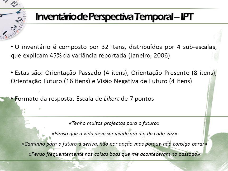 Inventário de Perspectiva Temporal – IPT