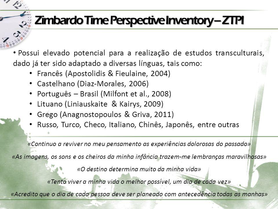 Zimbardo Time Perspective Inventory – ZTPI