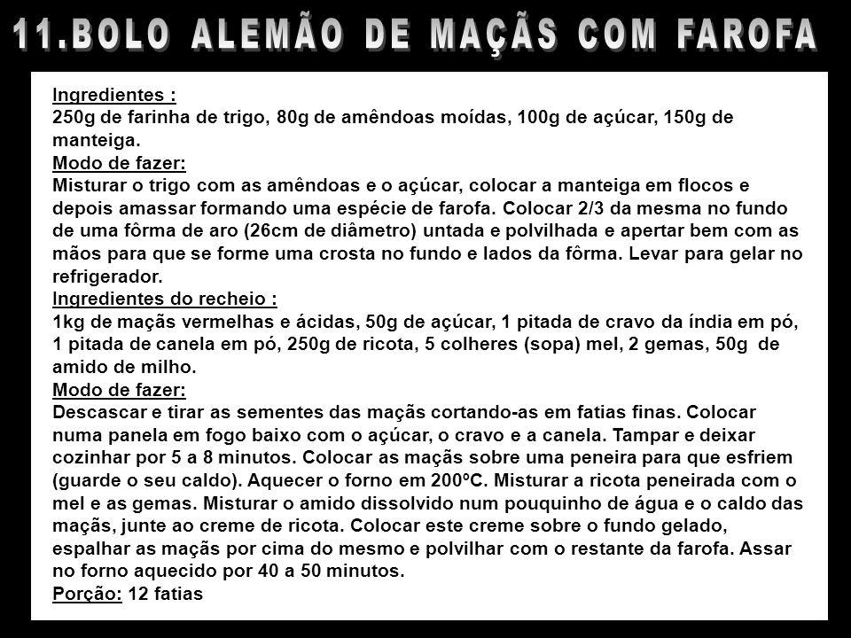 11.BOLO ALEMÃO DE MAÇÃS COM FAROFA