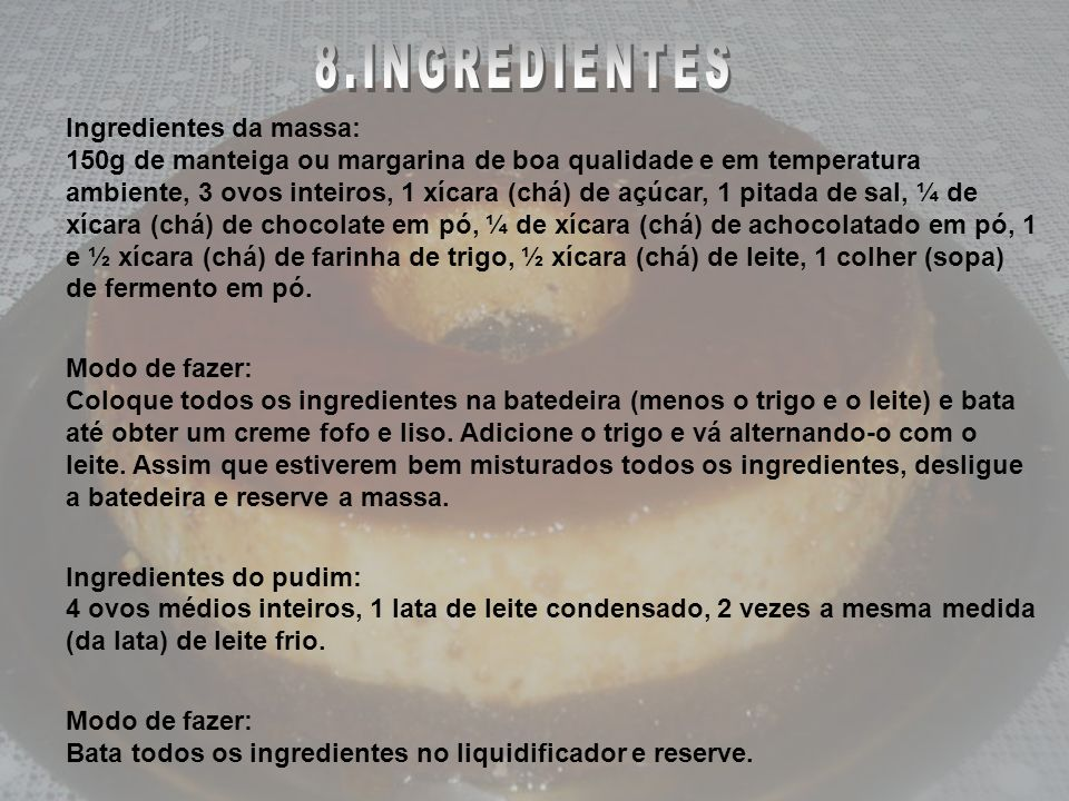 INGREDIENTES 8.INGREDIENTES
