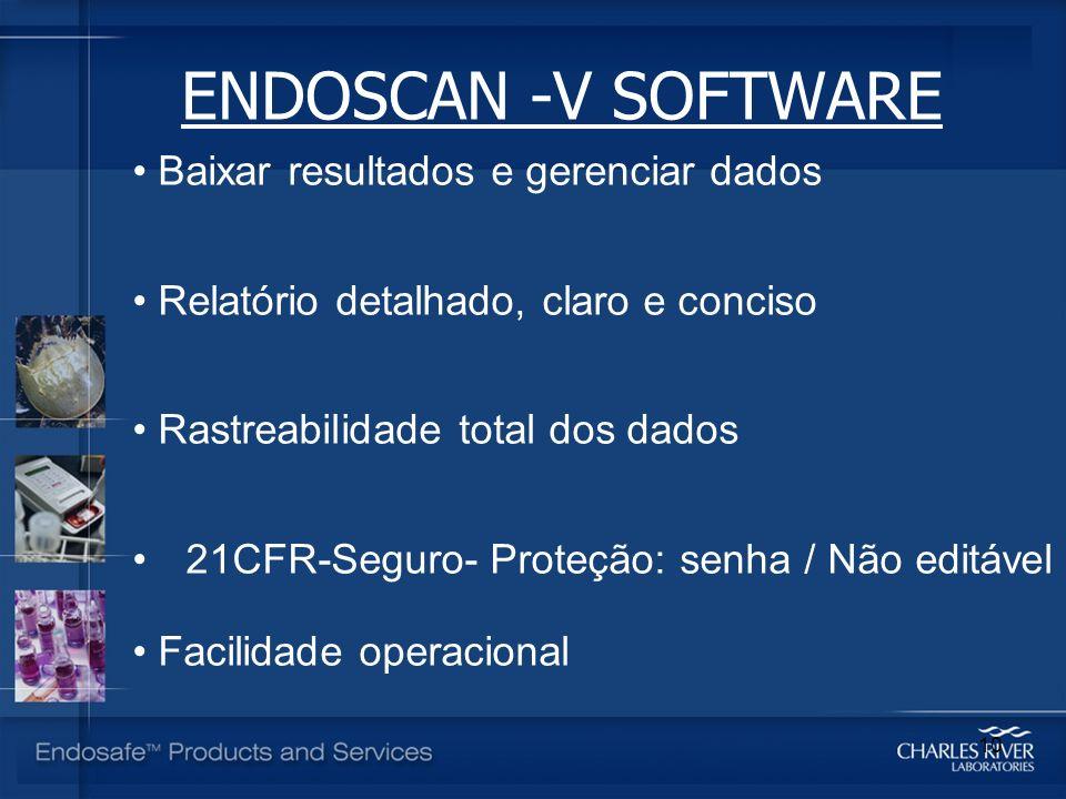 ENDOSCAN -V SOFTWARE Baixar resultados e gerenciar dados