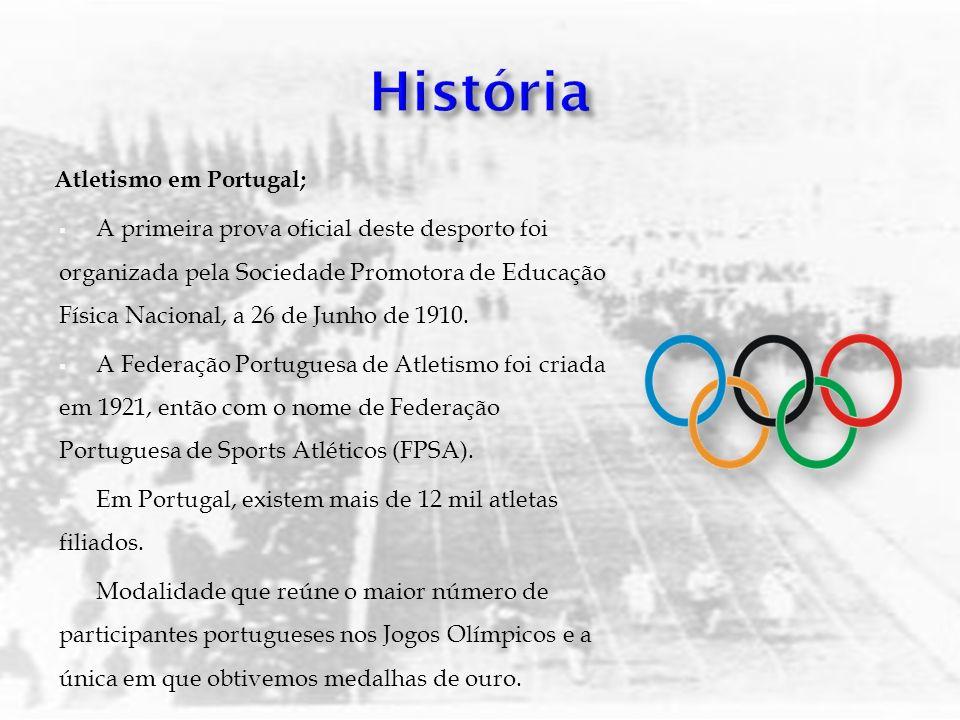 História Atletismo em Portugal;