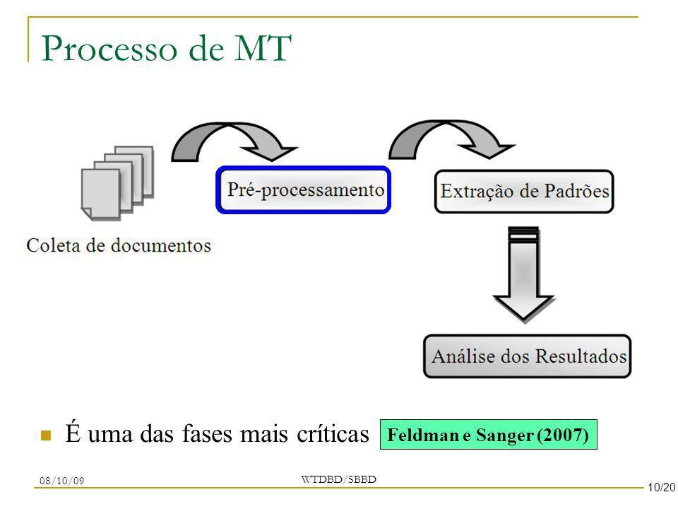 Processo de MT É uma das fases mais críticas Feldman e Sanger (2007)