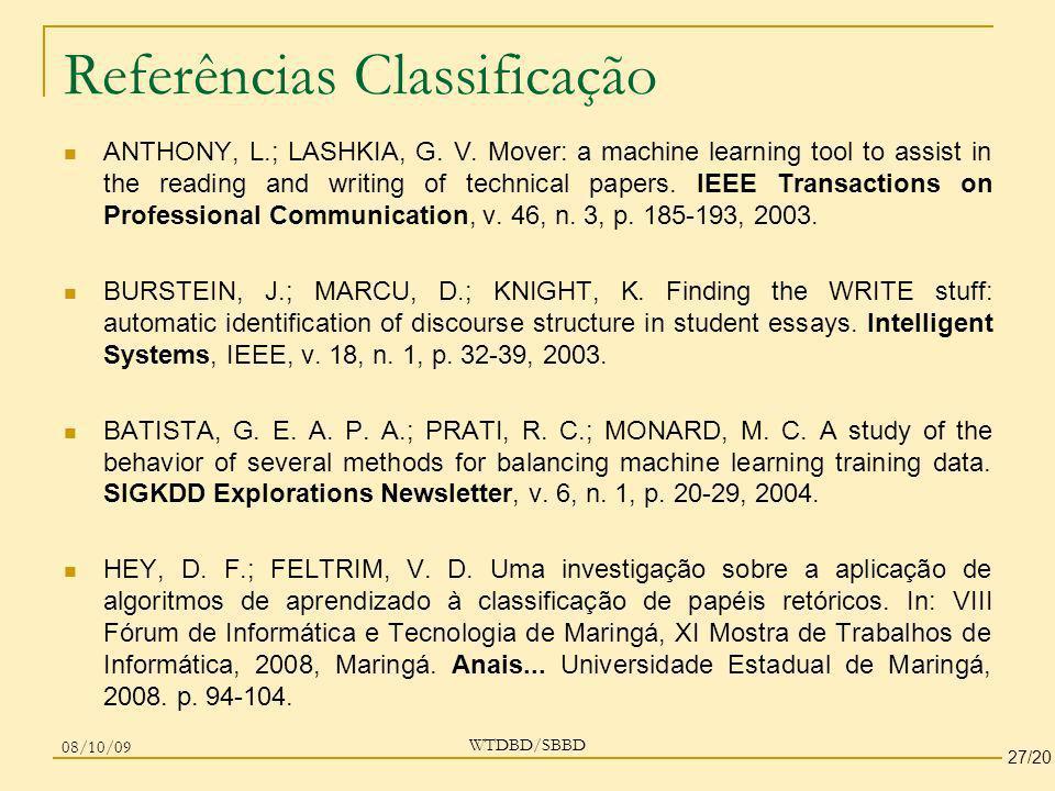 Referências Classificação