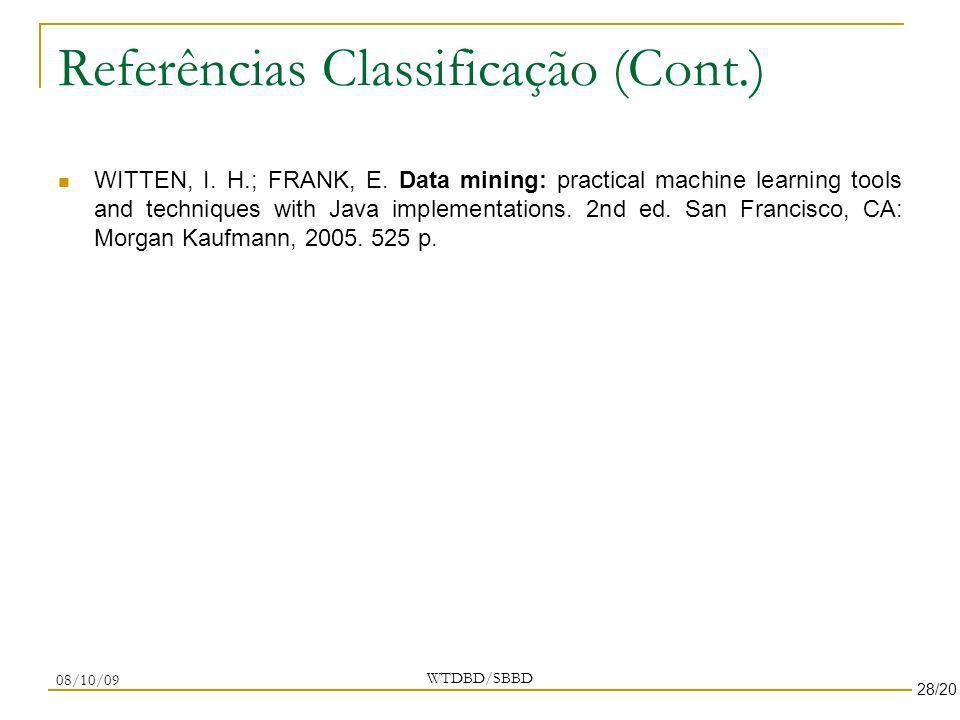 Referências Classificação (Cont.)